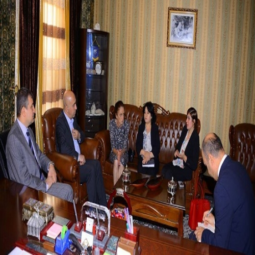 A delegation from the United Nations visits Soran University