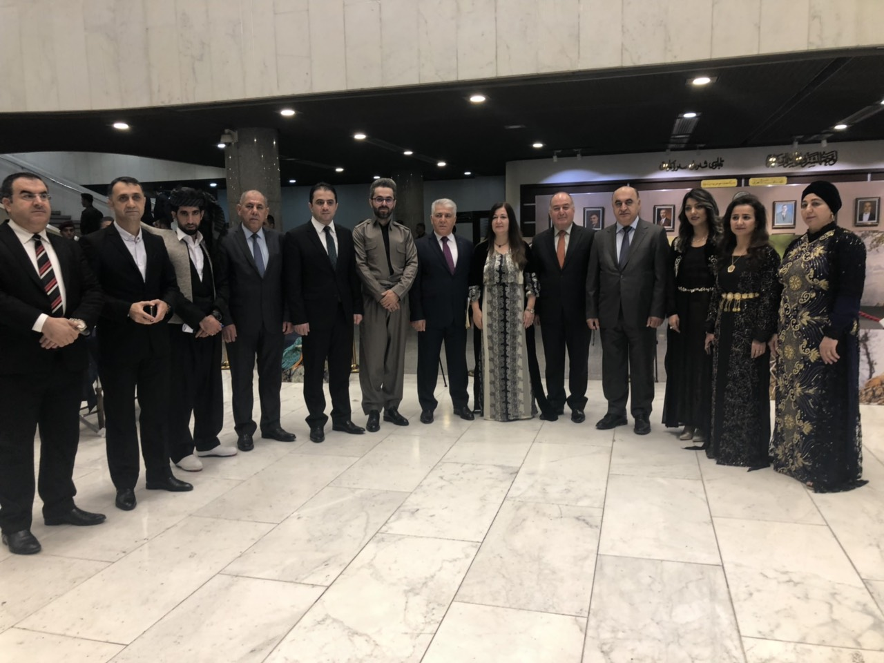 in  recognition of soran university several PHOTOGRAPHS of the nature of kurdistan are exhibited in the iraqi parliament