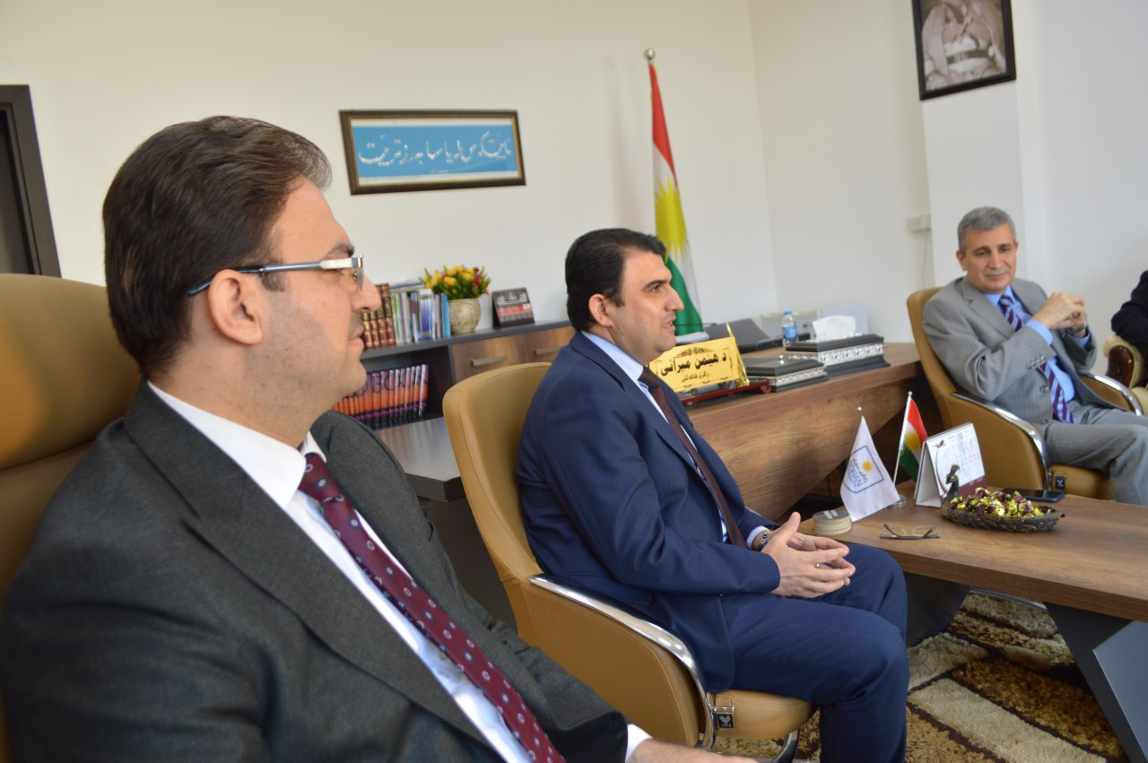 Head of council of ministries office visit to soran university