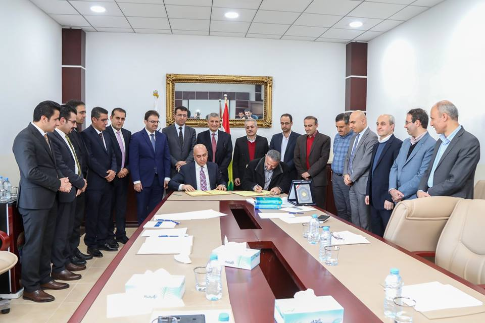 Soran University and the University of Kurdistan in Sna City signed a Memorandum of Understanding on Thursday 12th Feb 2019.